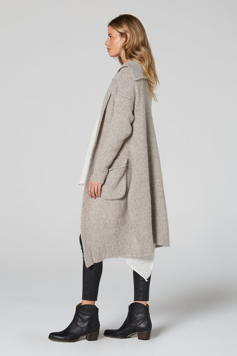 Elsa Wool Coat Flecked Natural