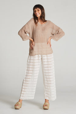Raw Faro Pant Panna White Stripe