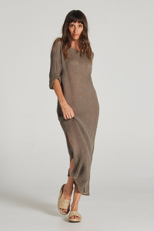 Etna Maxi Dress Mud Aida