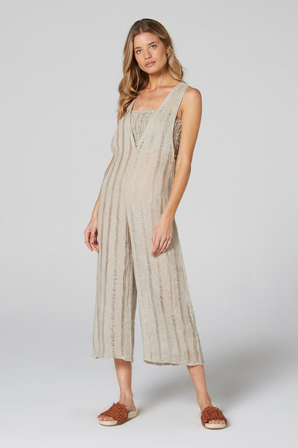 Fonda Jumpsuit Natural Stripe