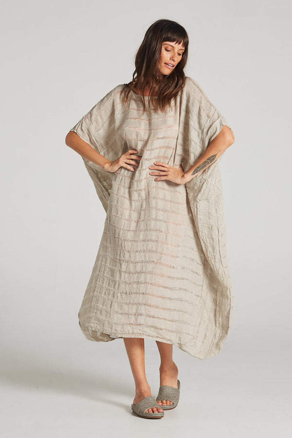Glacia Kaftan Natural Stripe