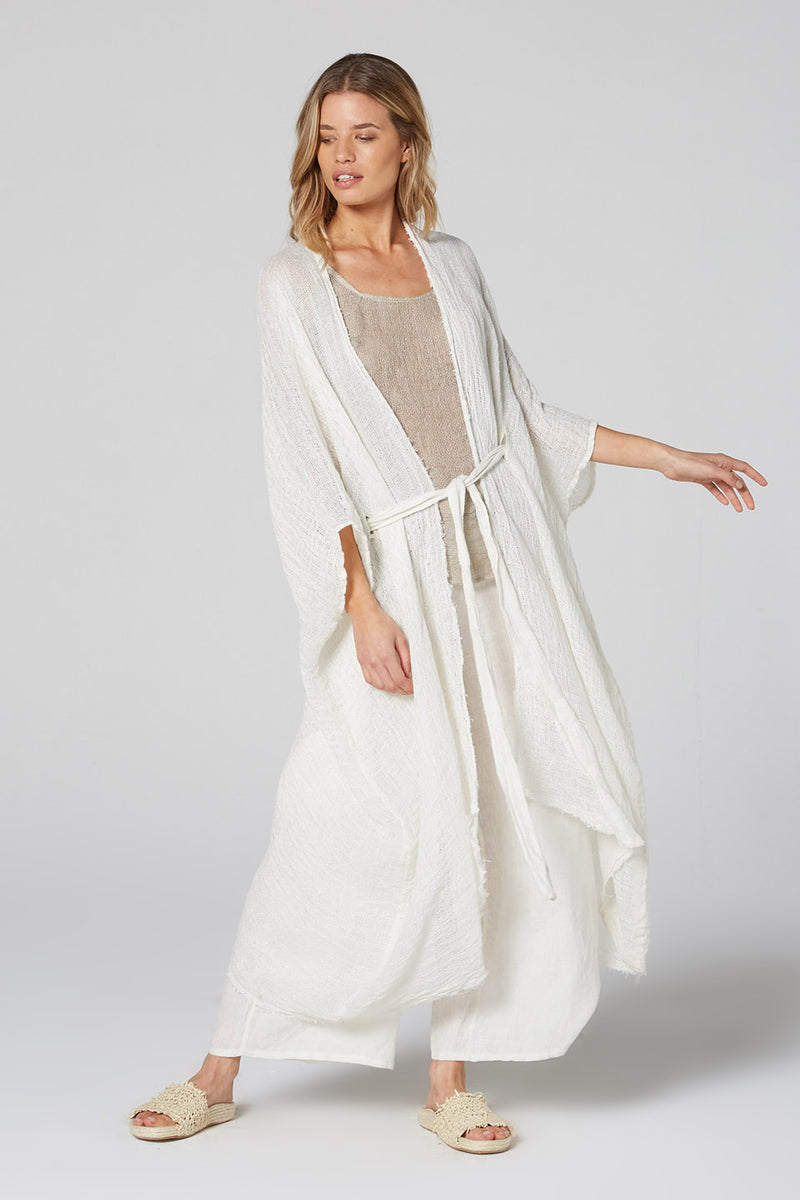 Gypsy Coat Panna White