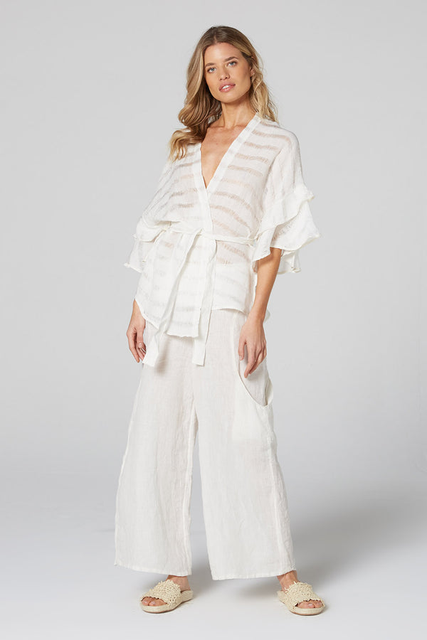 Harlowe Top Panna White Stripe