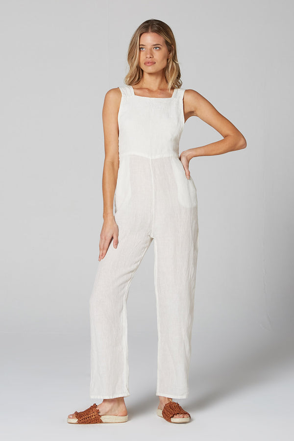 Icon Jumpsuit Panna White