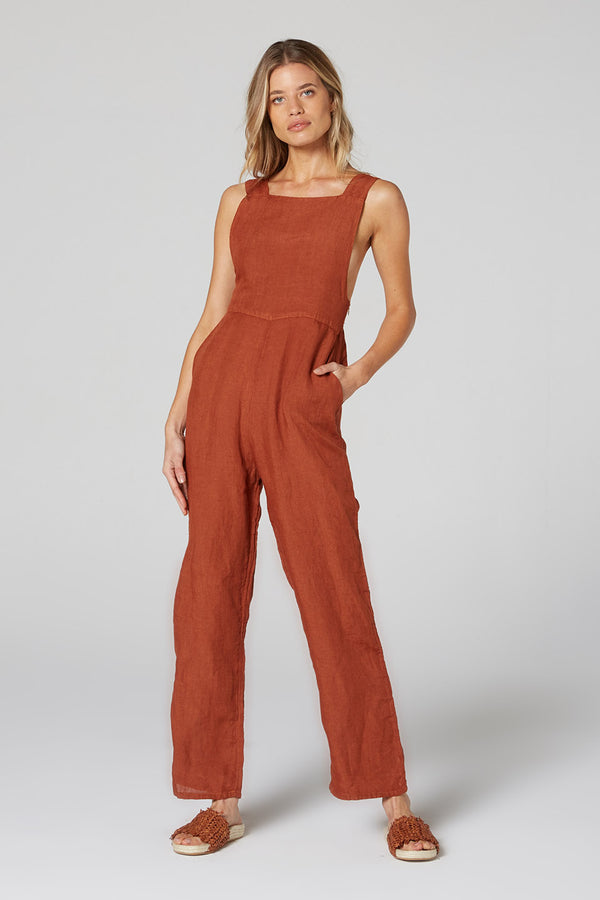 Icon Jumpsuit Rust