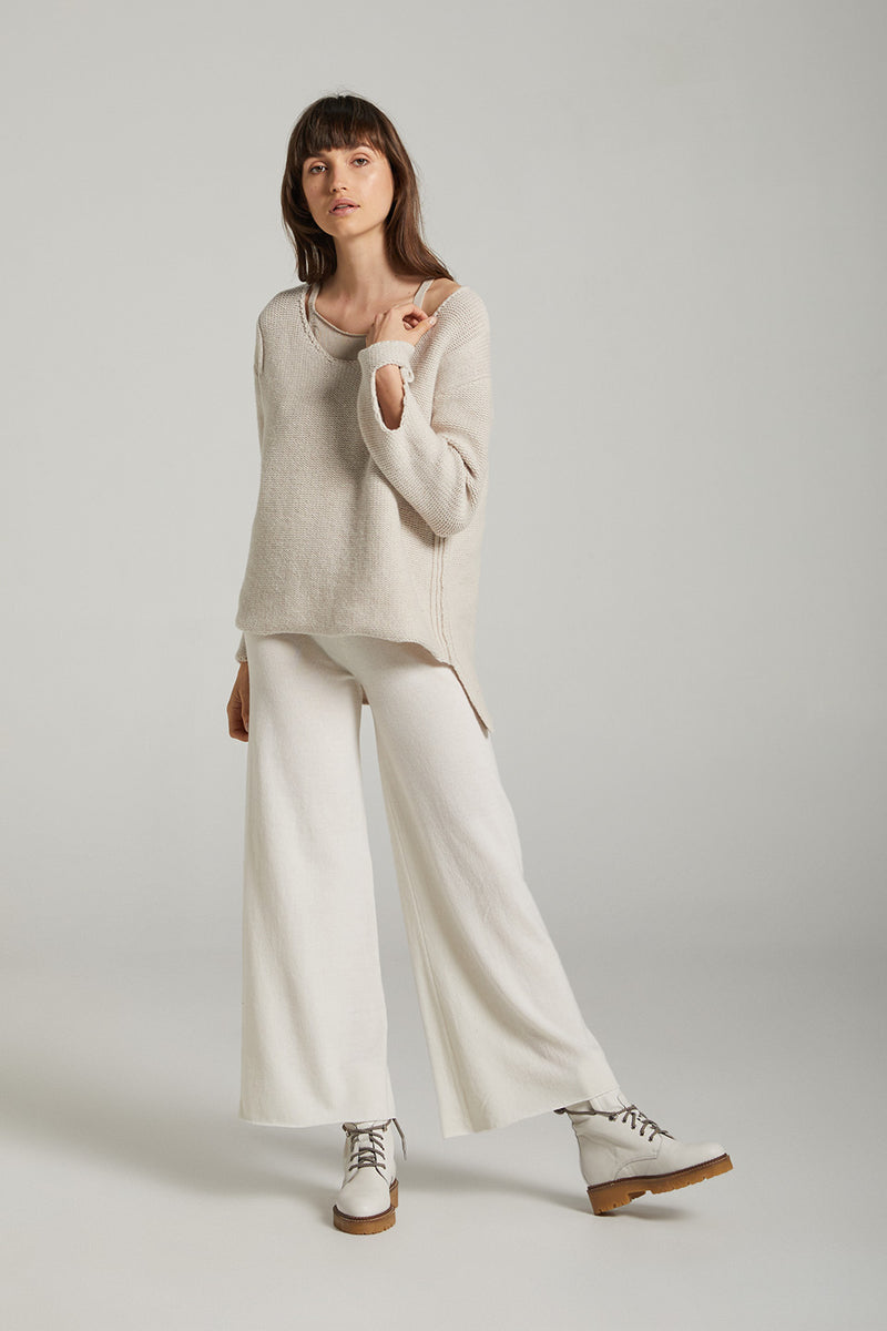 Sculpt Wool Jumper - Stone