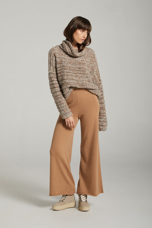 Solace Wool & Cashmere Lounge Pant - Camel