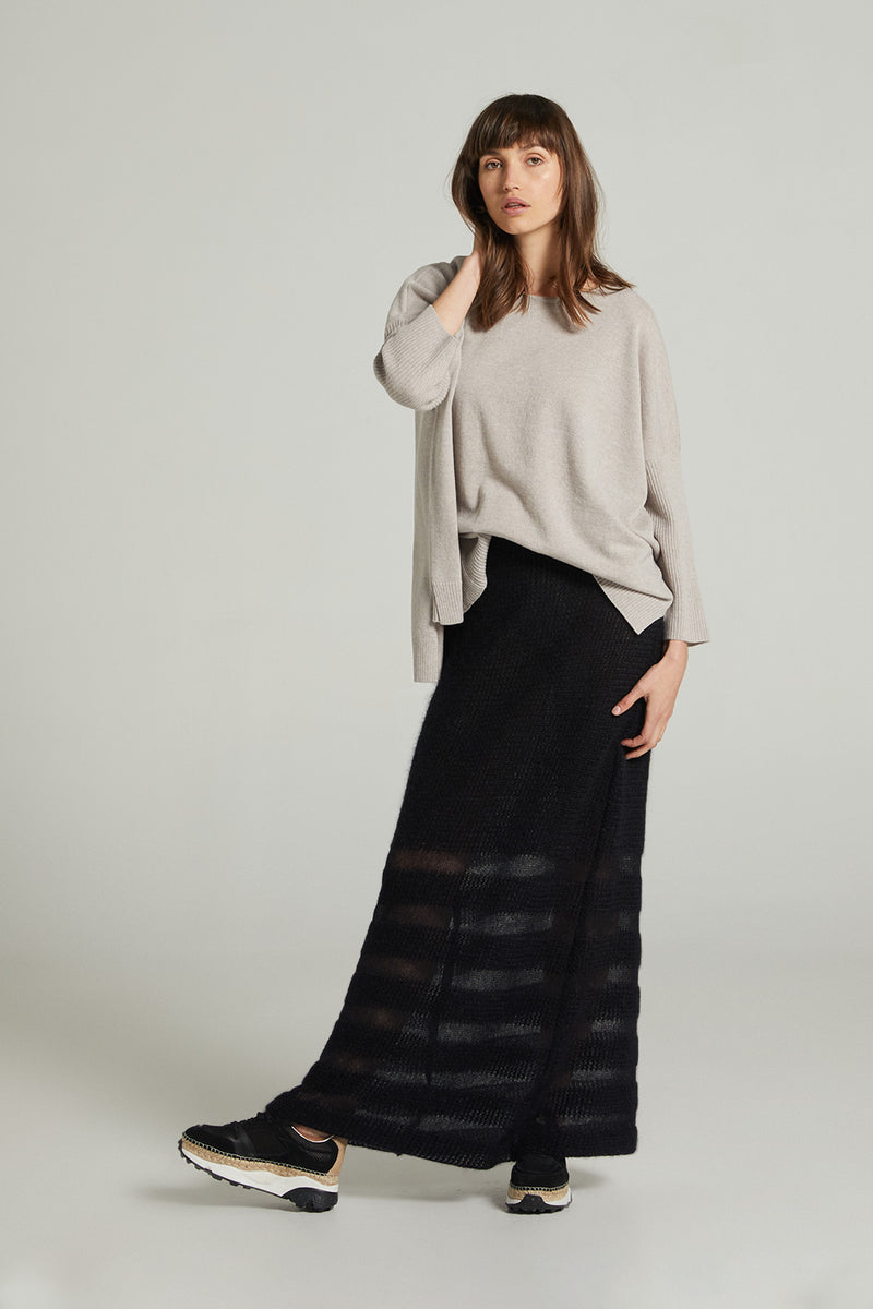 Melodeon Mohair Skirt - Black