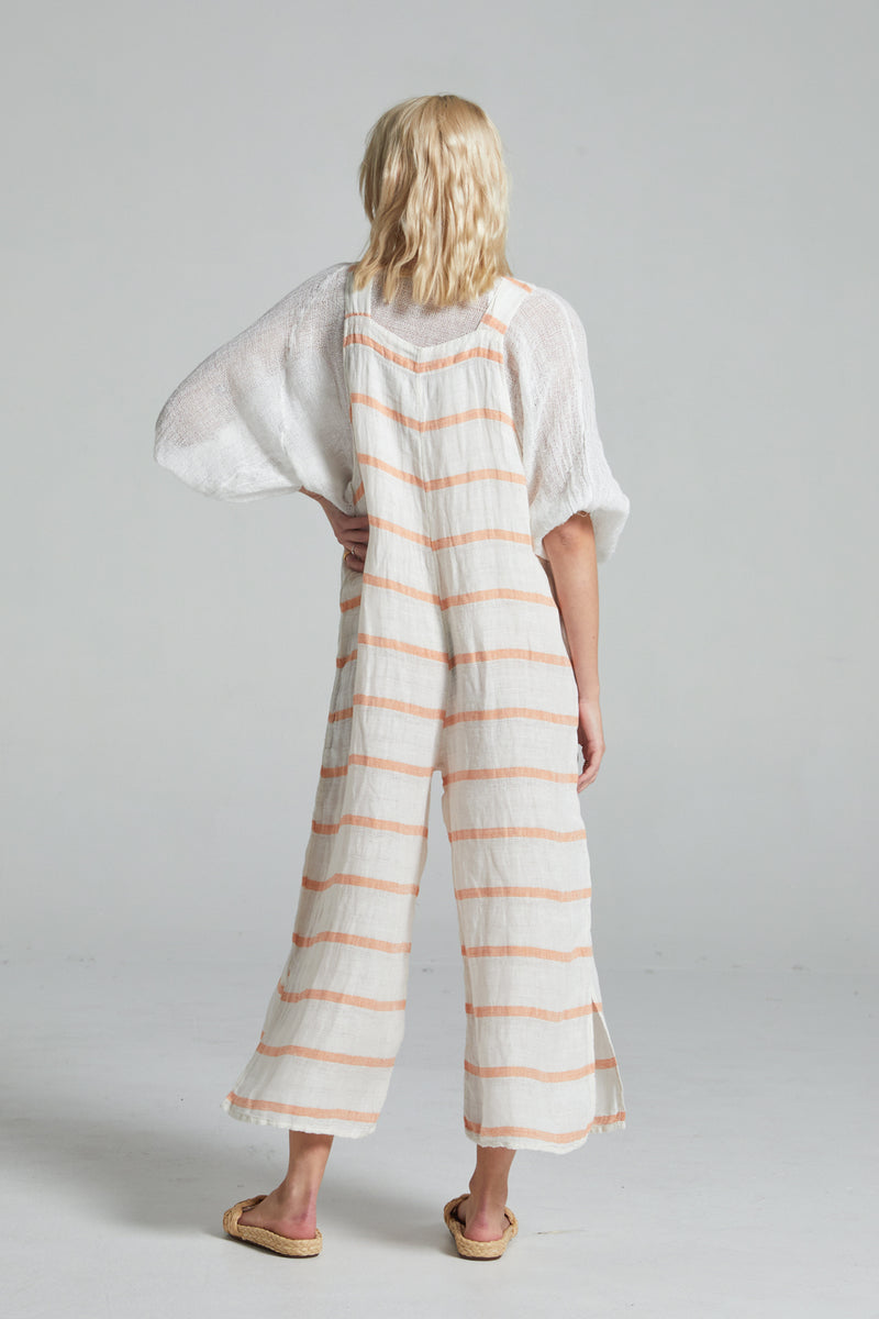 Pinocchio Jumpsuit - Orange Atlantic Stripe