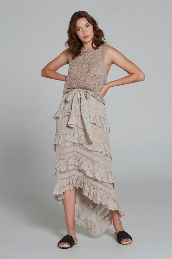 Sequoia Skirt Natural Stripe