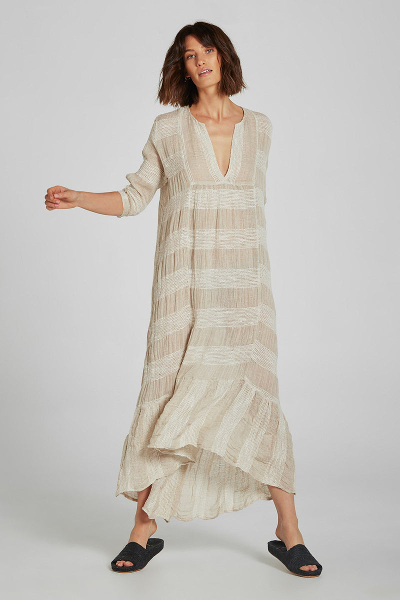 Maxi Tier Dress Yin Stripe