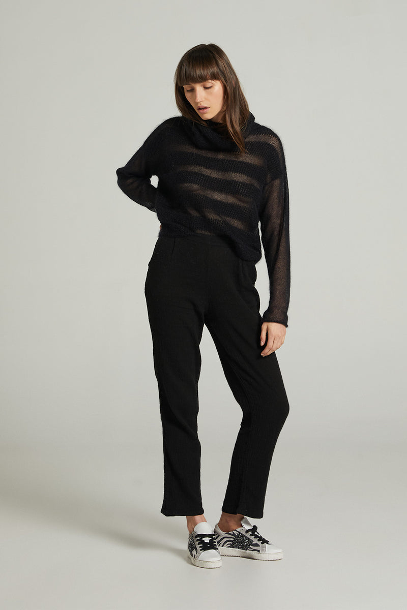 Melodeon Mohair Turtle Neck - Black
