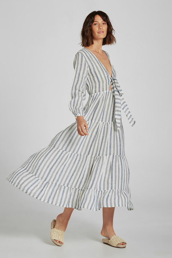 Mallorca Dress Marinella Stripe