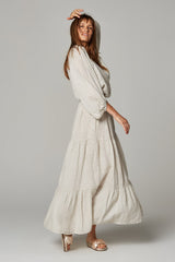 Maxi Tier Skirt - Angelo Natural