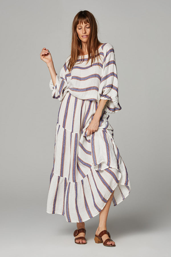 Maxi Tier Skirt - Roma Stripe