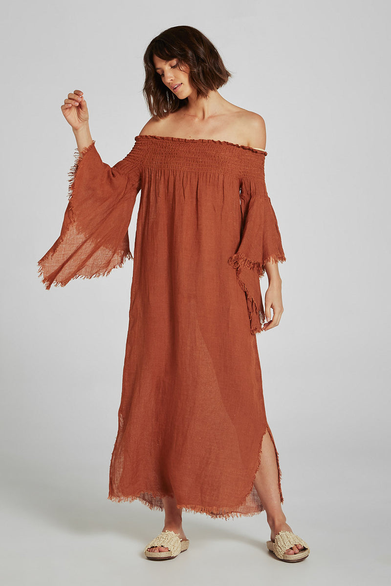 Maxim Dress Voille Terracotta
