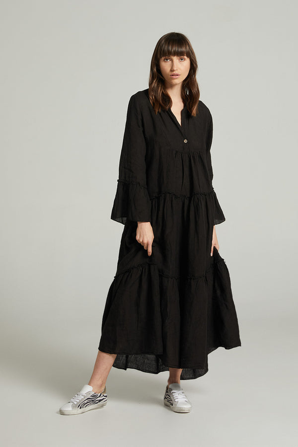 Maxi Sorrento Dress - Battista Black