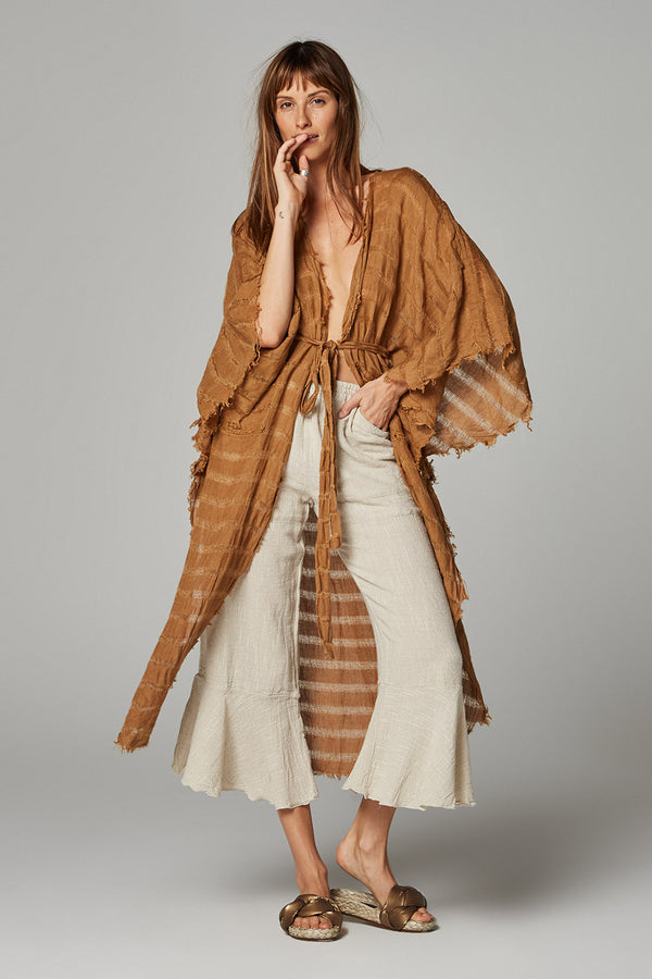 Laurito Coat - Oro Stripe