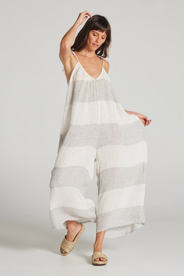 Larga Jumpsuit Panna Thin Stripe