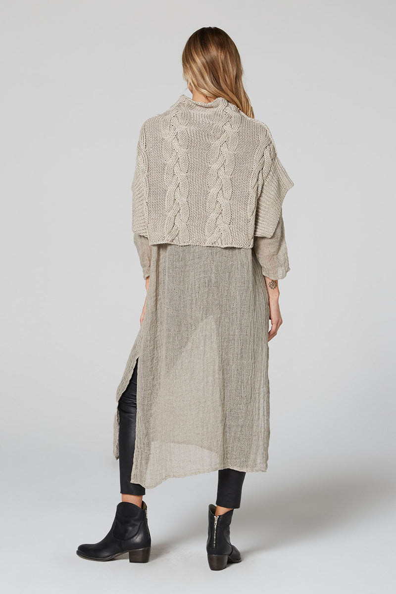 Molly Linen Cable Jumper Natural