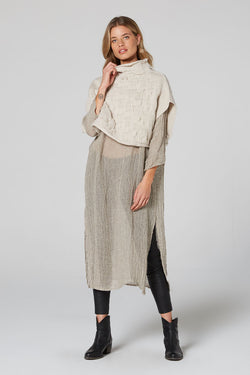 Molly Wool Fringe Jumper Bisque