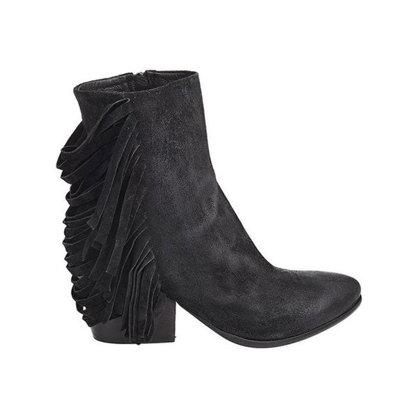 Noose Tassel Boot Black