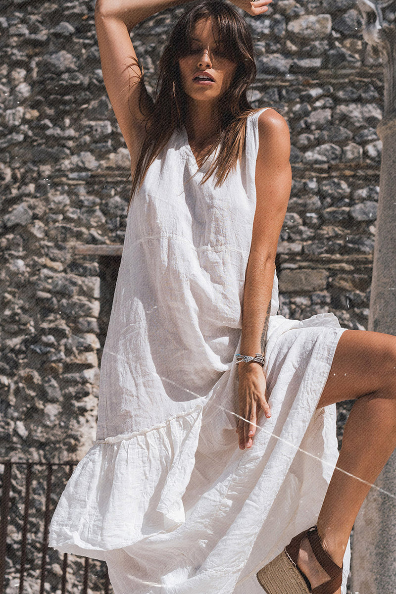 Folk Dress Battista White
