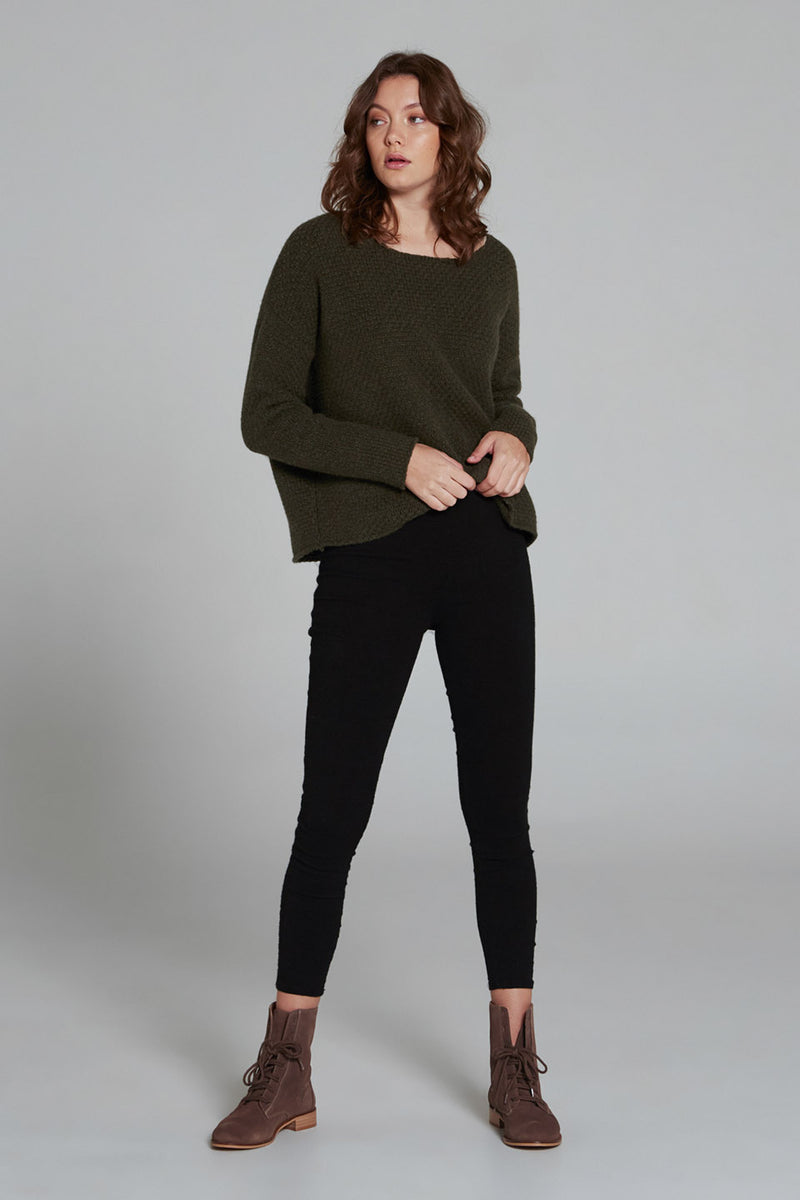 Rise & Fall Jumper Hunter Green