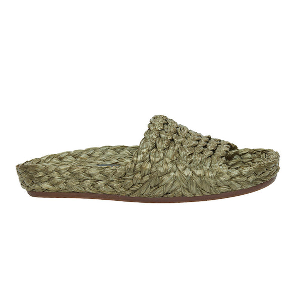 Braided Slide - Khaki