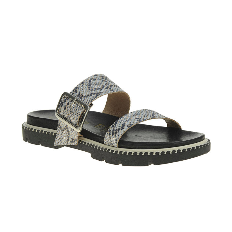 Dion Double Buckle Sandal Multi Snake
