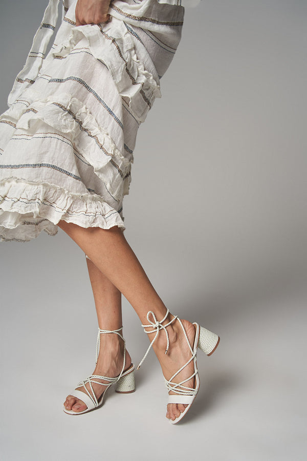 Stinger Wrap Heel - White