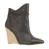 Washed Wooden Wedge Black
