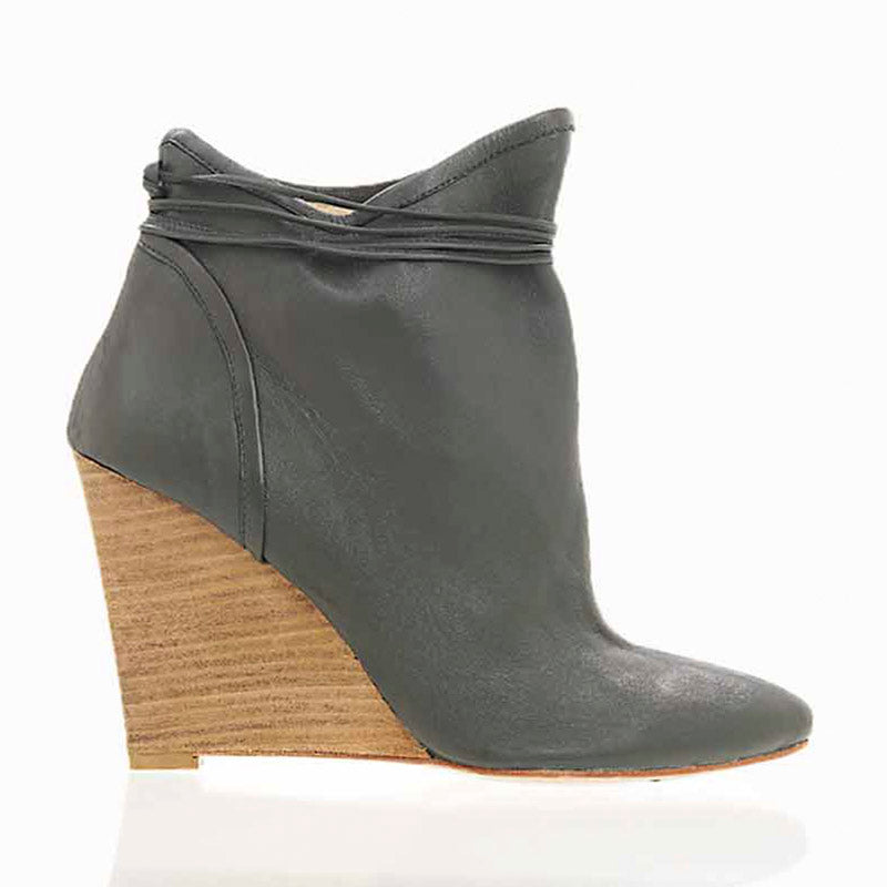 Washed Wooden Wedge Grey