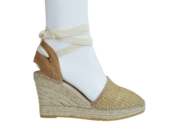 Rattan Closed-Toe Classico Espadrille - Natural