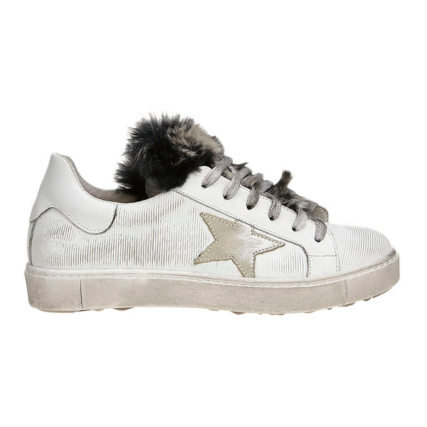Fur Flash Sneaker Grunge White