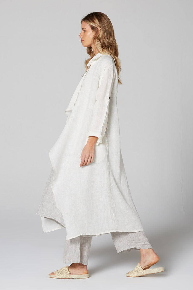 Summer Trench Panna White