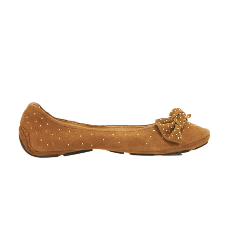 Bow and Stud Ballet Slipper