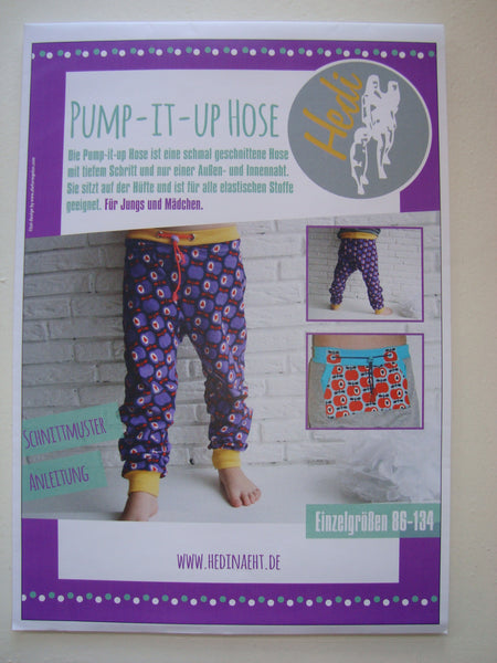 Papierschnittmuster Pump-it-up-Hose Kids Hedi näht 86-134