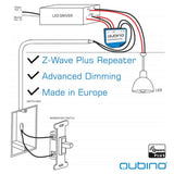 Qubino - 0-10 V Dimmer for LED Low Voltage Dimmable Fixtures