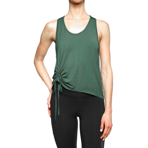 Super soft modal tank with rouched drawstring detail from Chill By Will
