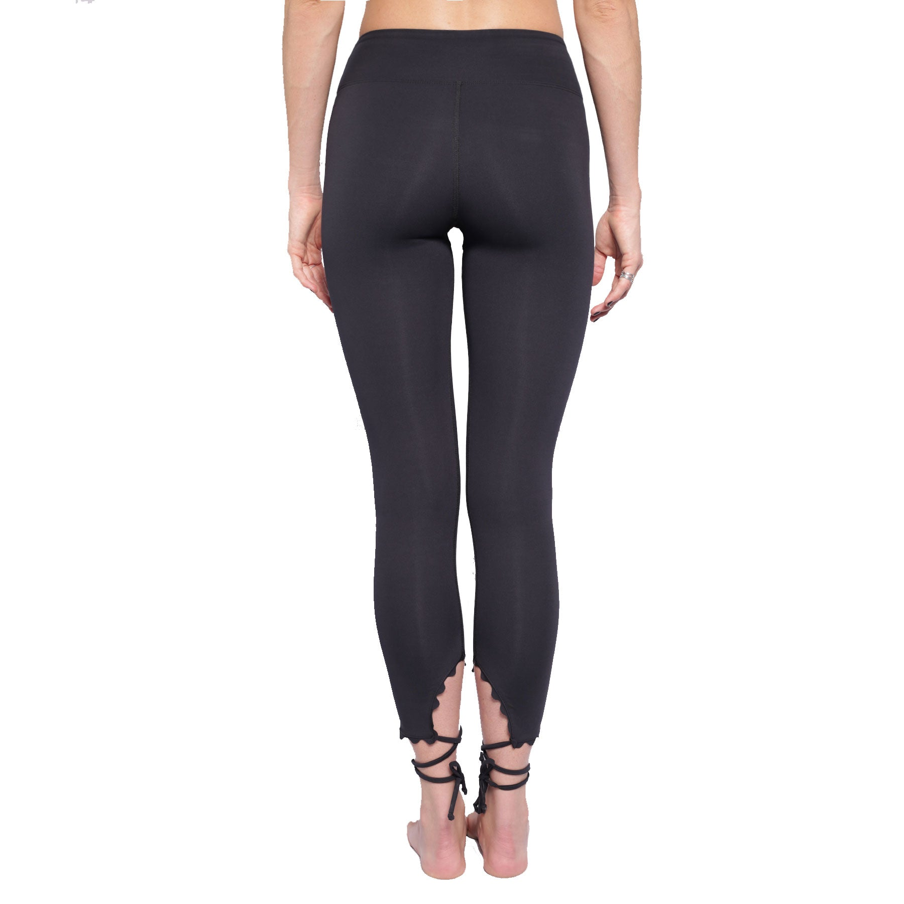 WRAP HEM LEGGING IN BLACK