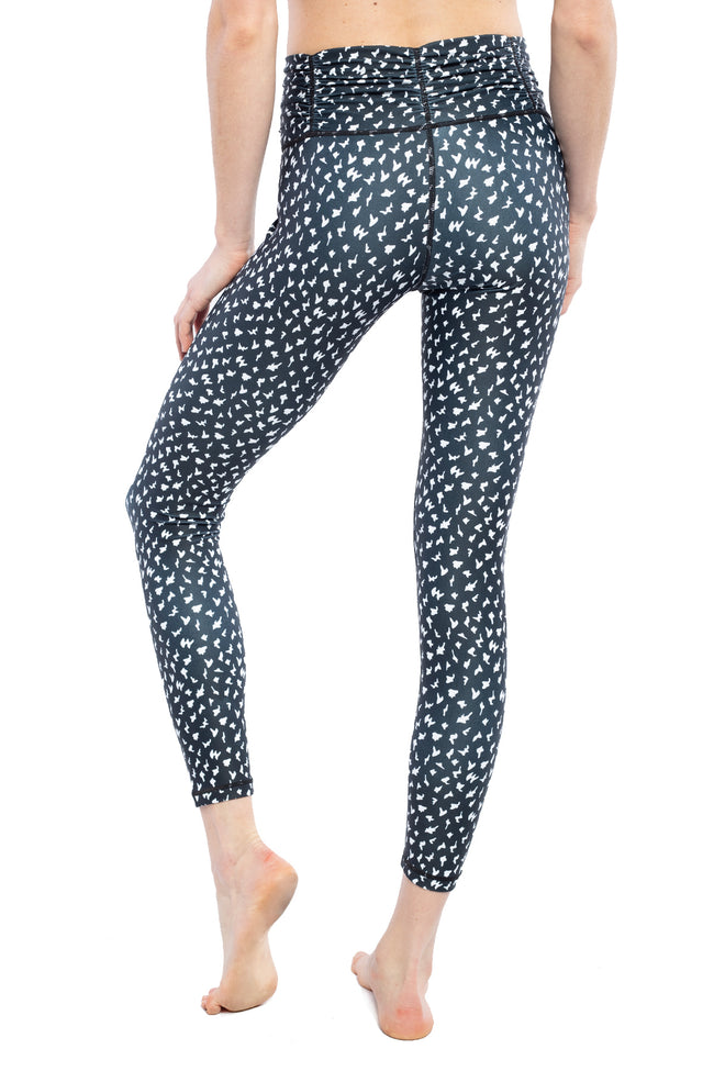 BLISS LEGGING- BLACK WHITE ANIMAL