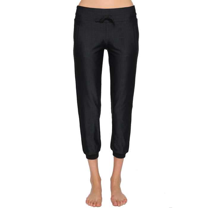 Black lounge pant with drawstring