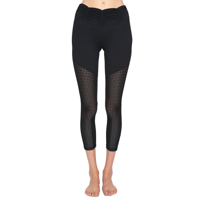 Black Mesh Active Legging