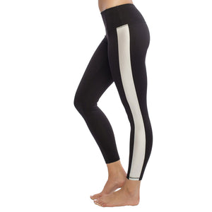 Comfortable high performance legging with silver stripe