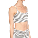 hill by Will Cross Back Bra, Gray and White Stripe Seen on Carbon38