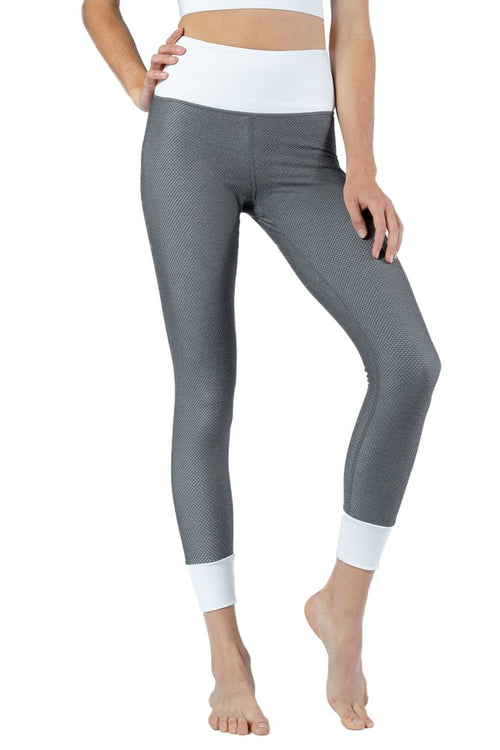 Mid-rise super soft legging in Pewter and White from Chill By Will