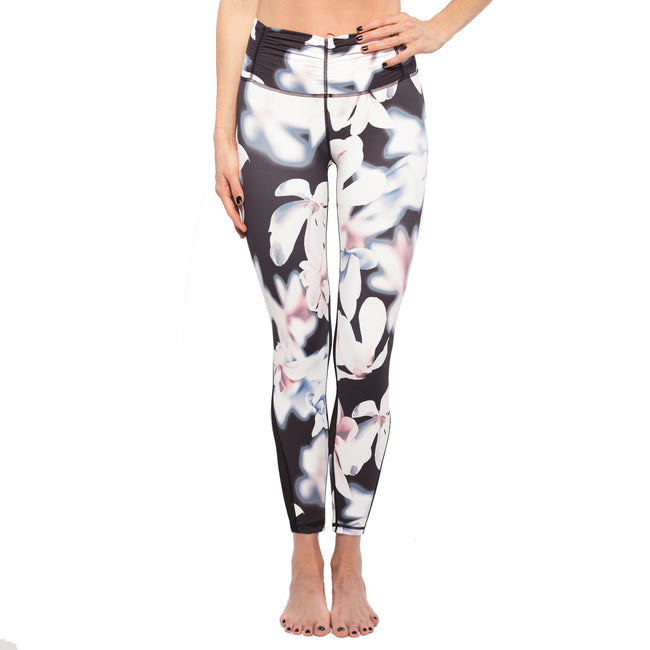 Floral Printed Legging with Mesh Detail