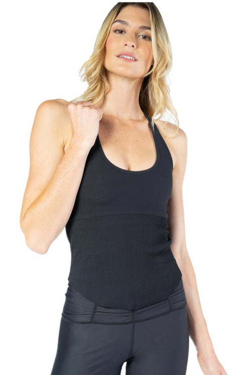 STORM RIBBED RACER BACK TANK