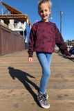 YOUTH BURGUNDY DRIP CREWNECK